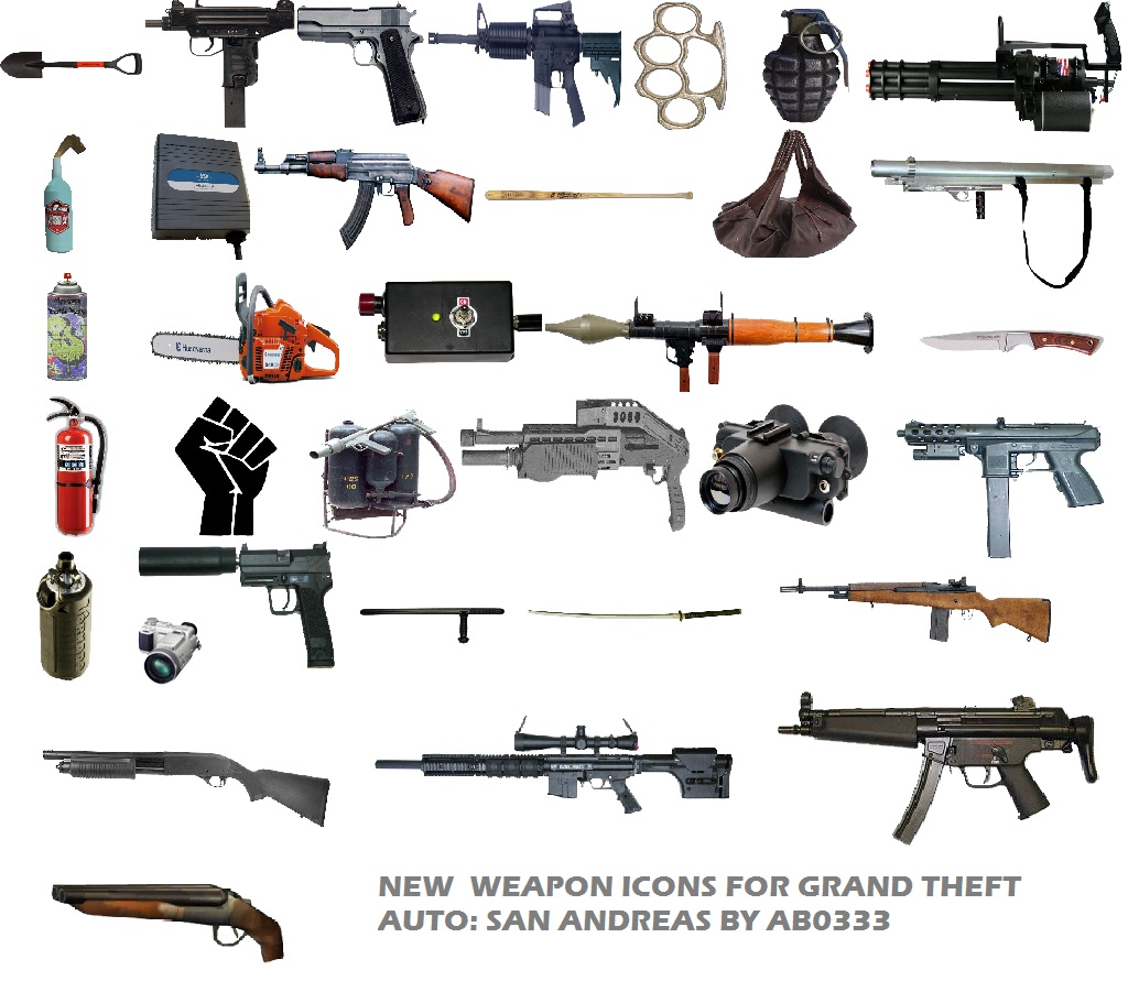 GTAGarage.com » New Weapon Icons » View Screenshot