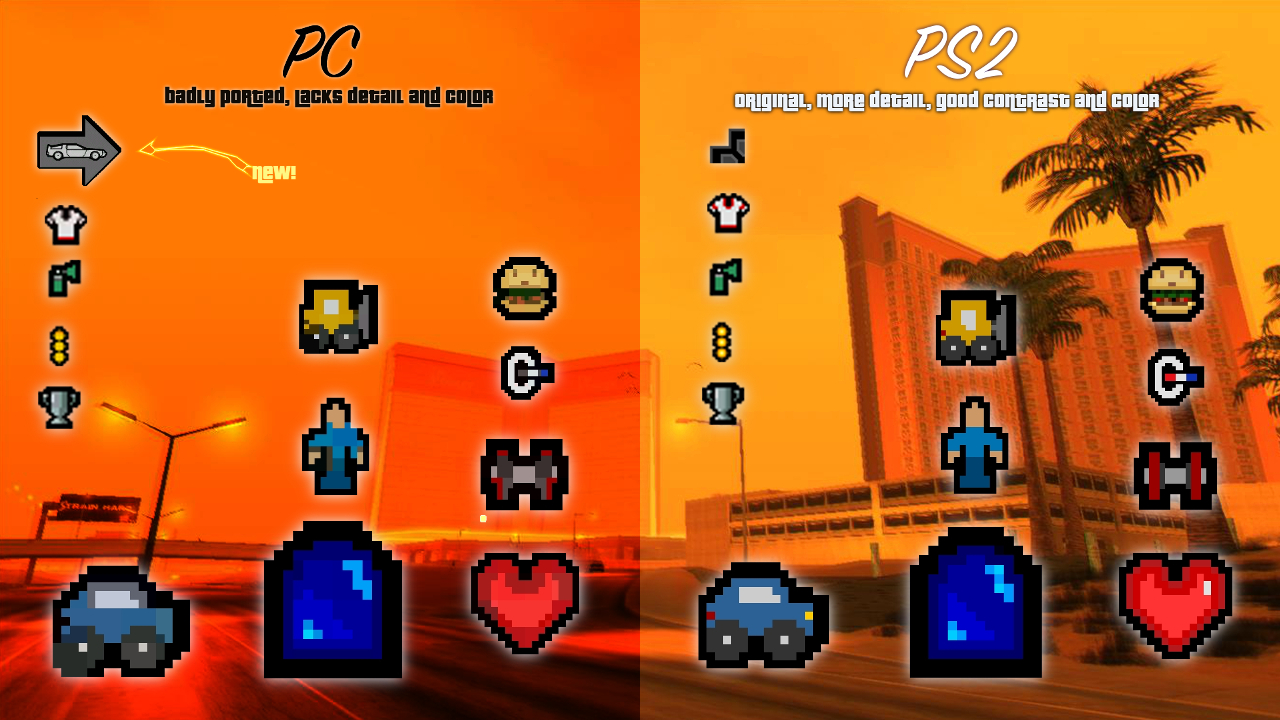 GTAGarage com » PS2 HUD + Blips For San Andreas » View