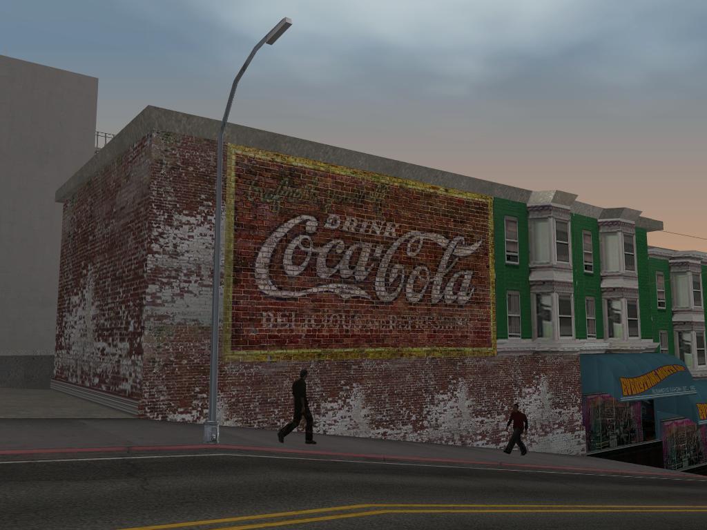 San andreas billboards screenshots for Coca cola wall mural